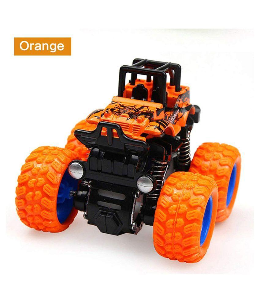 KF Deals Toys Monster Trucks Friction Powered Cars for Kids, Toddler Toys Inertia Car Toys (Orange)