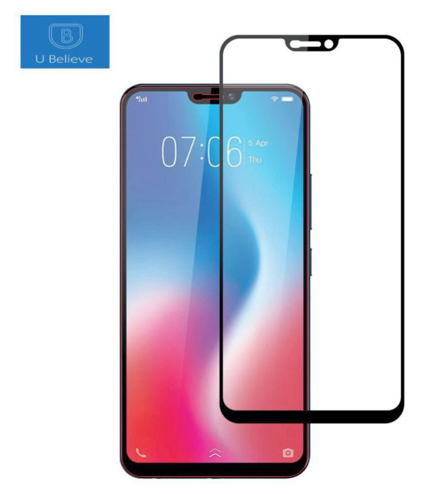 Vivo V9 Pro Tempered Glass Screen Guard By lenmax UV Protection, Anti Reflection