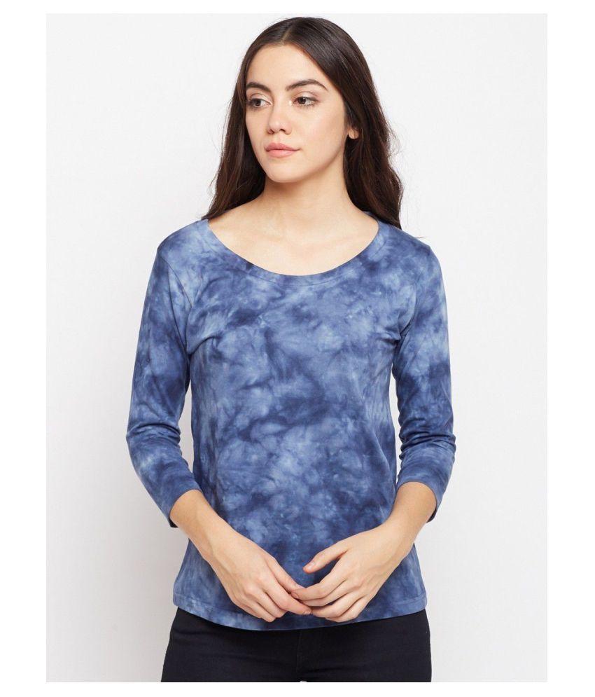 Bombay Clothing Company Cotton Blue T-Shirts