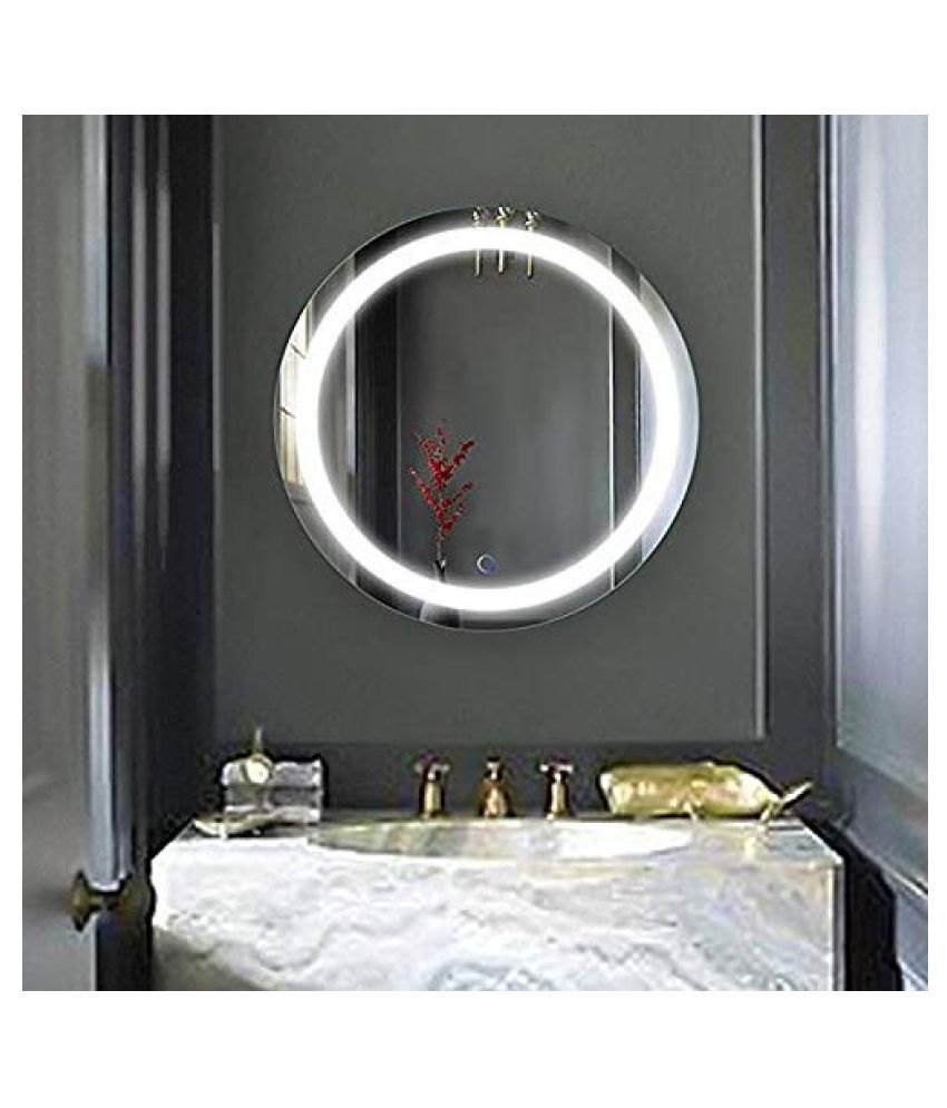 InArt Mirror Wall Mirror White ( 45 x 45 cms ) - Pack of 1