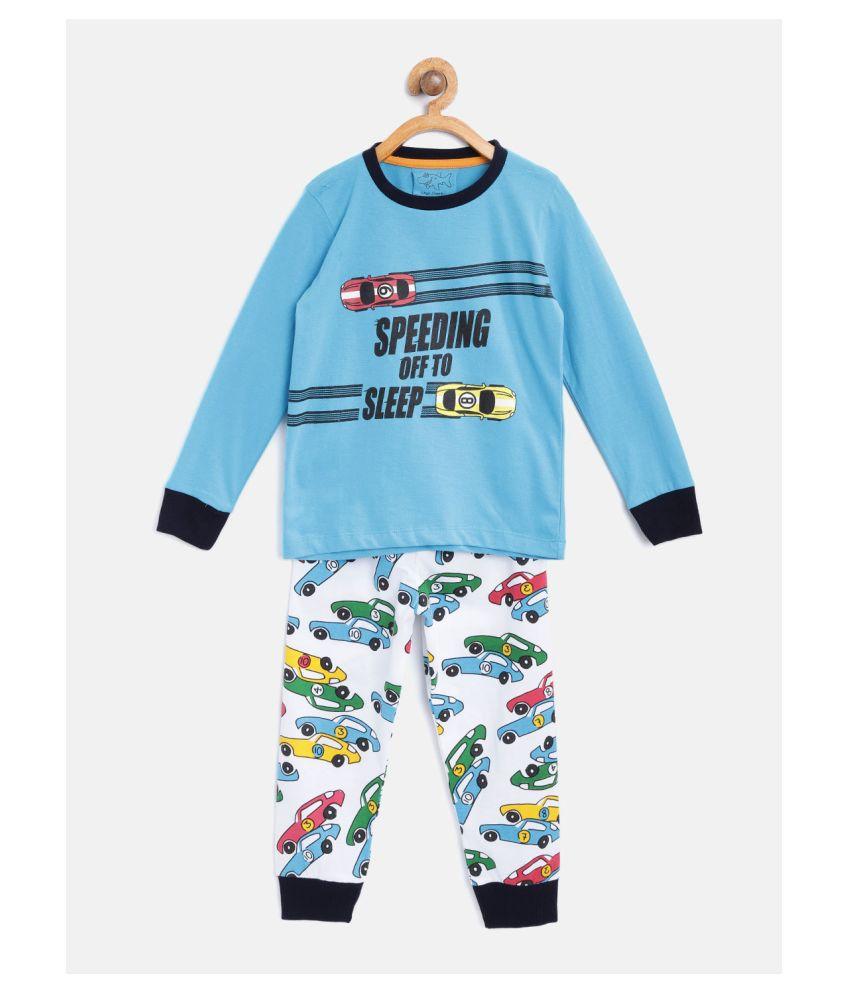 Lazy Shark Boys Night Suit