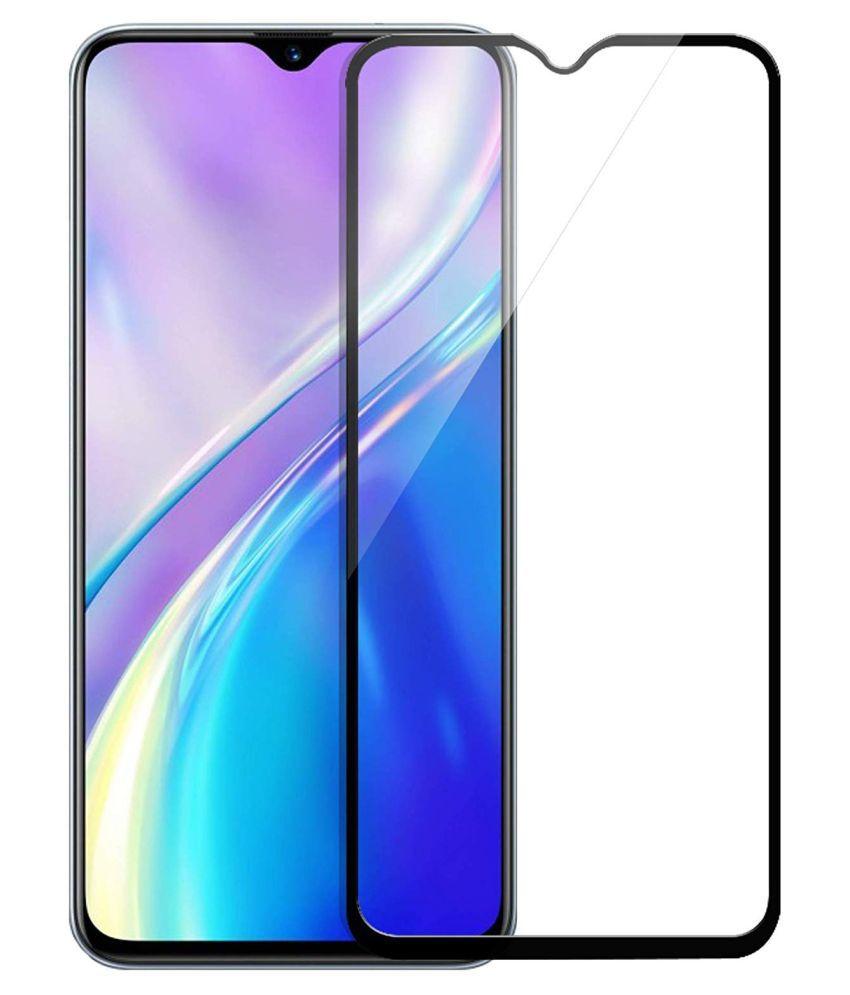Realme X2 Full Glue Tempered Glass Screen Guard By Mobicover 11D/9H/6D Tempered Glass Anti-Scratch