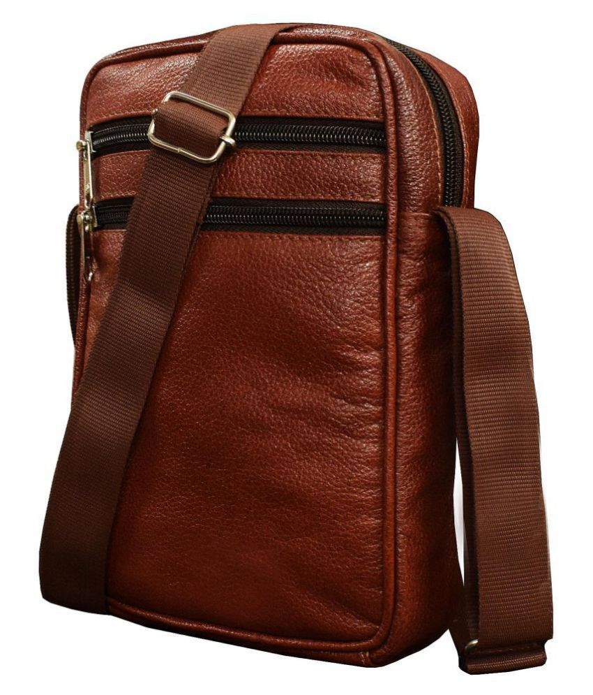 Vegan Brown Leather Office Bag