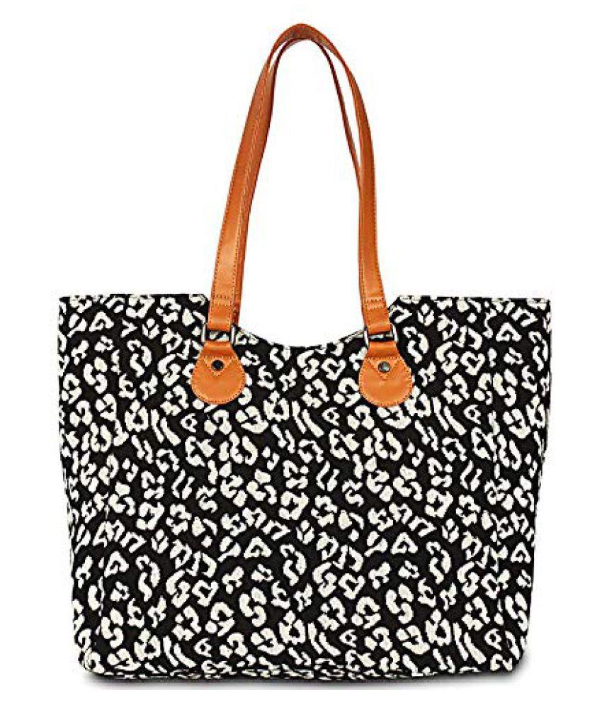 Babesandbabas Black Canvas Shoulder Bag