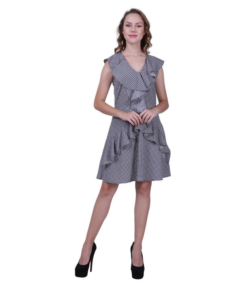 Polka dots by achla kapoor Crepe Multi Color Regular Dress