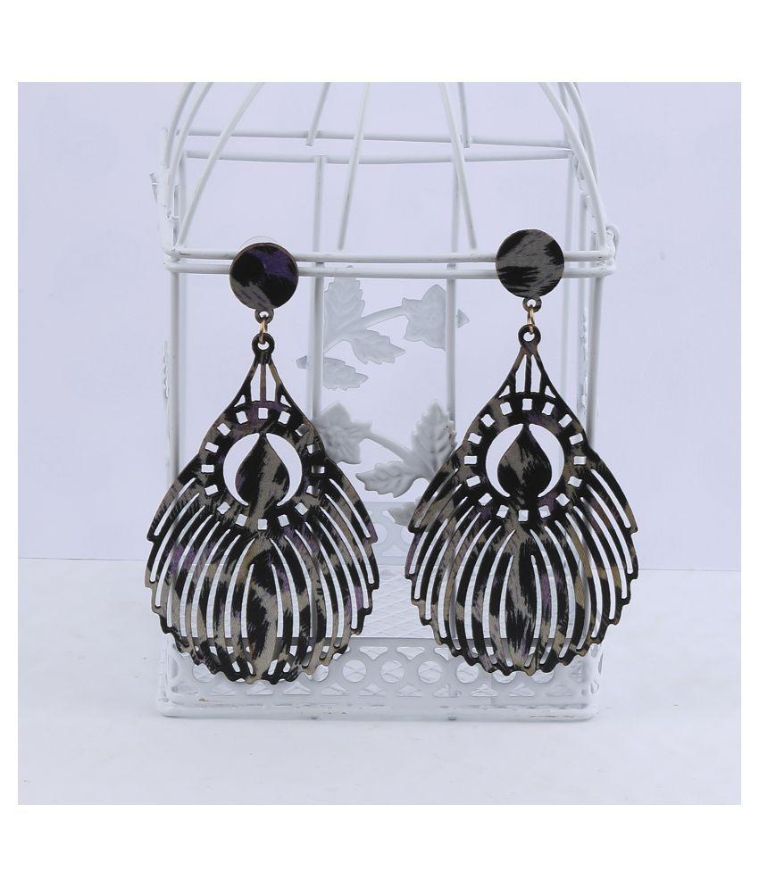 SILVER SHINE Beautiful Stylish   Wooden Light Weight Dangler Earrings for Girls and Women.