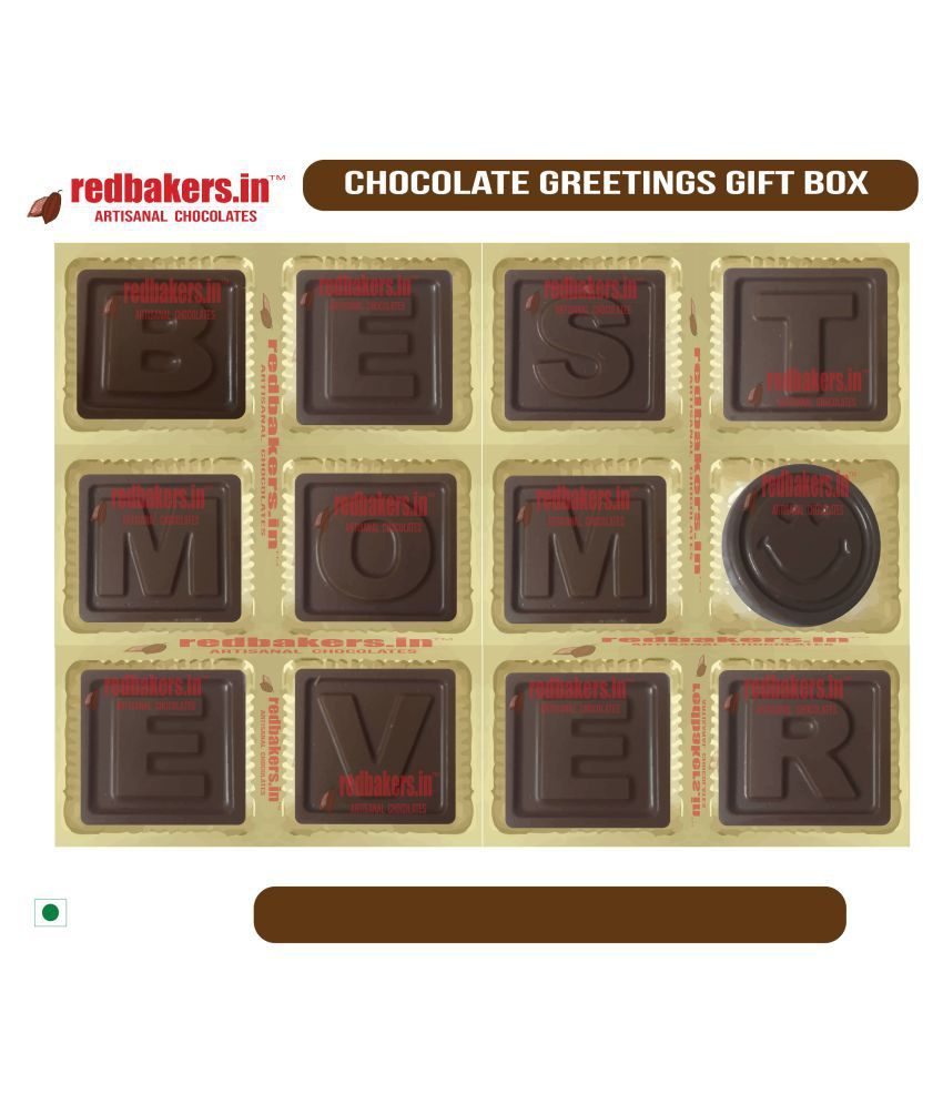 redbakers.in Chocolate Box Best Mom Ever Chocolate Greetings 180 gm