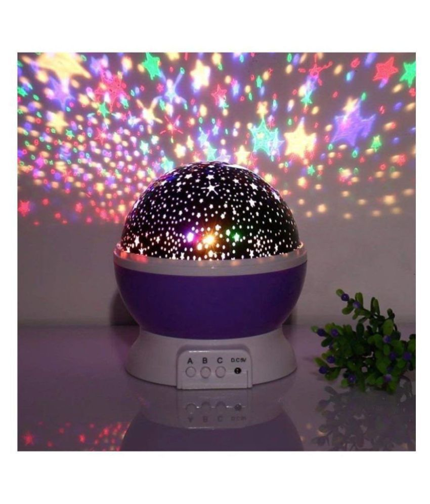MOHANKHEDA Rotating LED Star Master Night Lamp Night Lamp Multi - Pack of 1