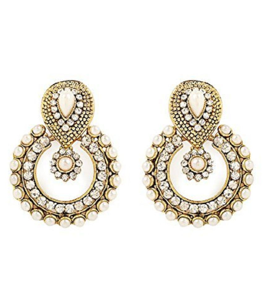 JDX Gem  White Earrings for Girls and Women