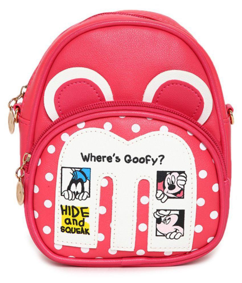 Aliado Pink Synthetic College Bag
