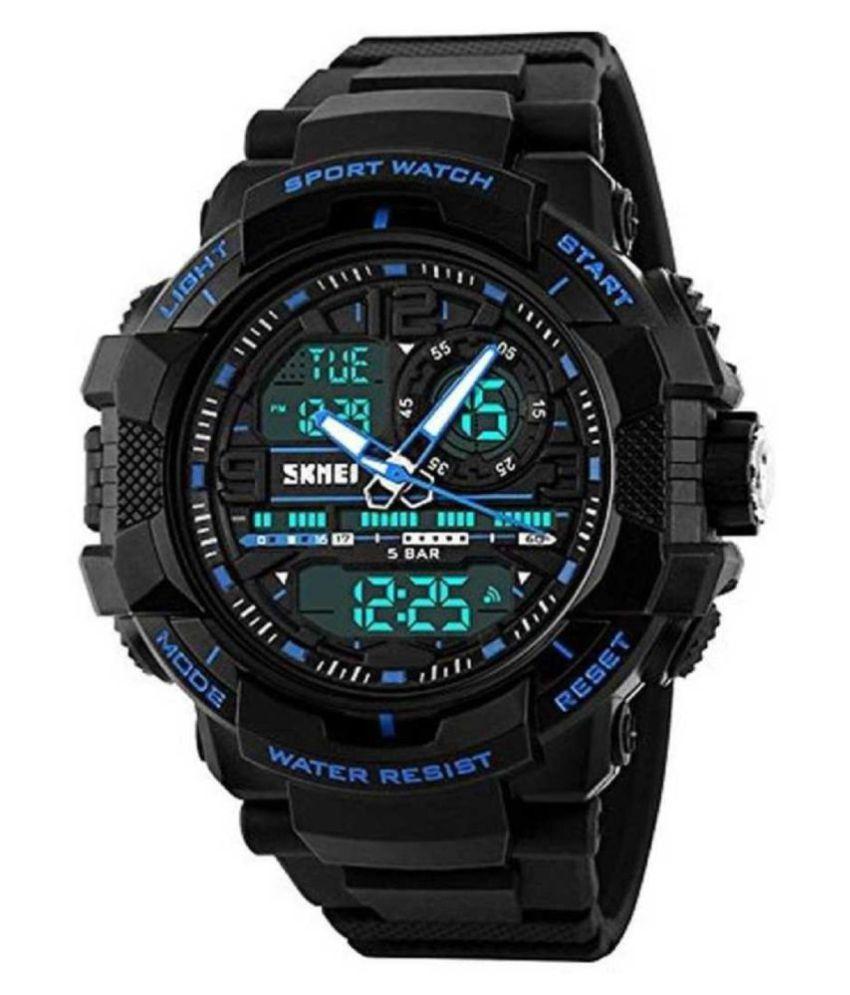 Skmei 1164 Blue PU Analog Digital Men #039;s Watch