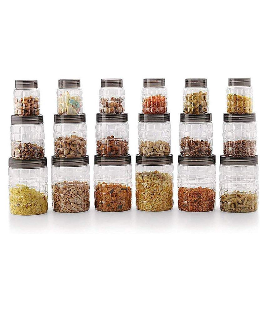 EZVISION Polycarbonate Spice Container Set of 18 1100 mL