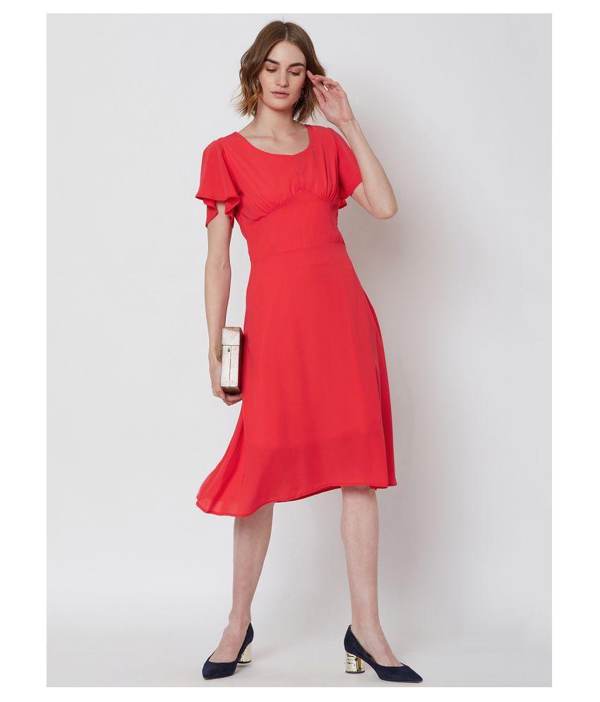 Nun Polyester Pink Empire Dress
