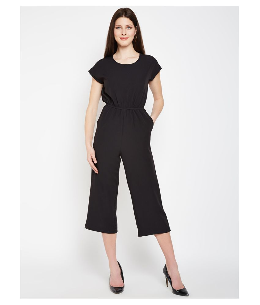 Nun Black Polyester Jumpsuit