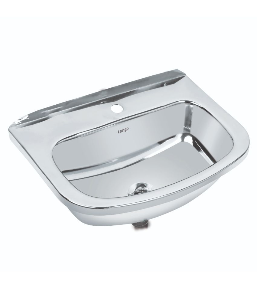 Tango White Stainless Steel Wall Hung Wash Basins