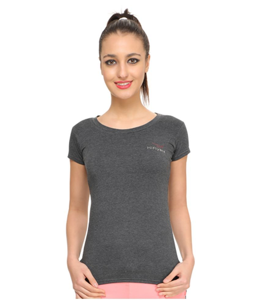 Hiflyers Cotton Brown T-Shirts