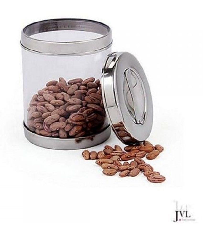 JVL Air Tight Canister Steel Spice Container Set of 1 425 mL