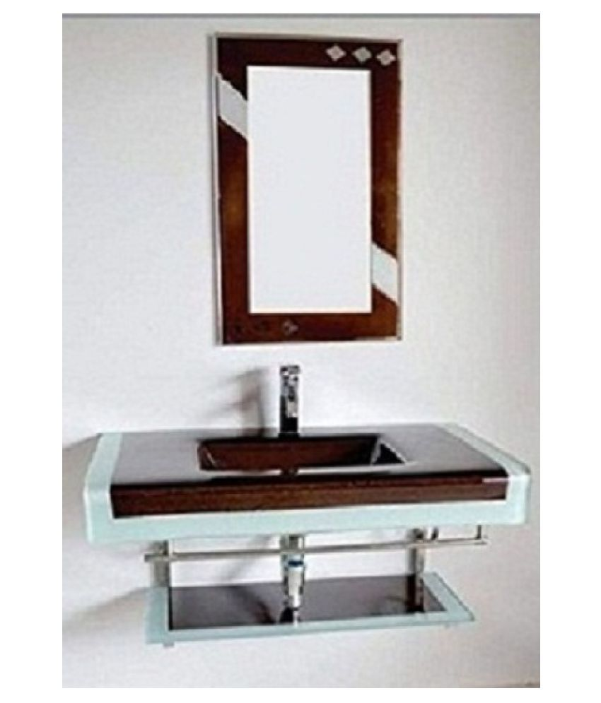 ARVIND SANITARY PVT LTD Brown Toughened Glass Wall Hung Wash Basins