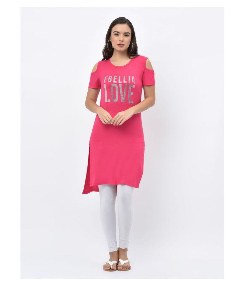 V2 Viscose Pink Regular Dress