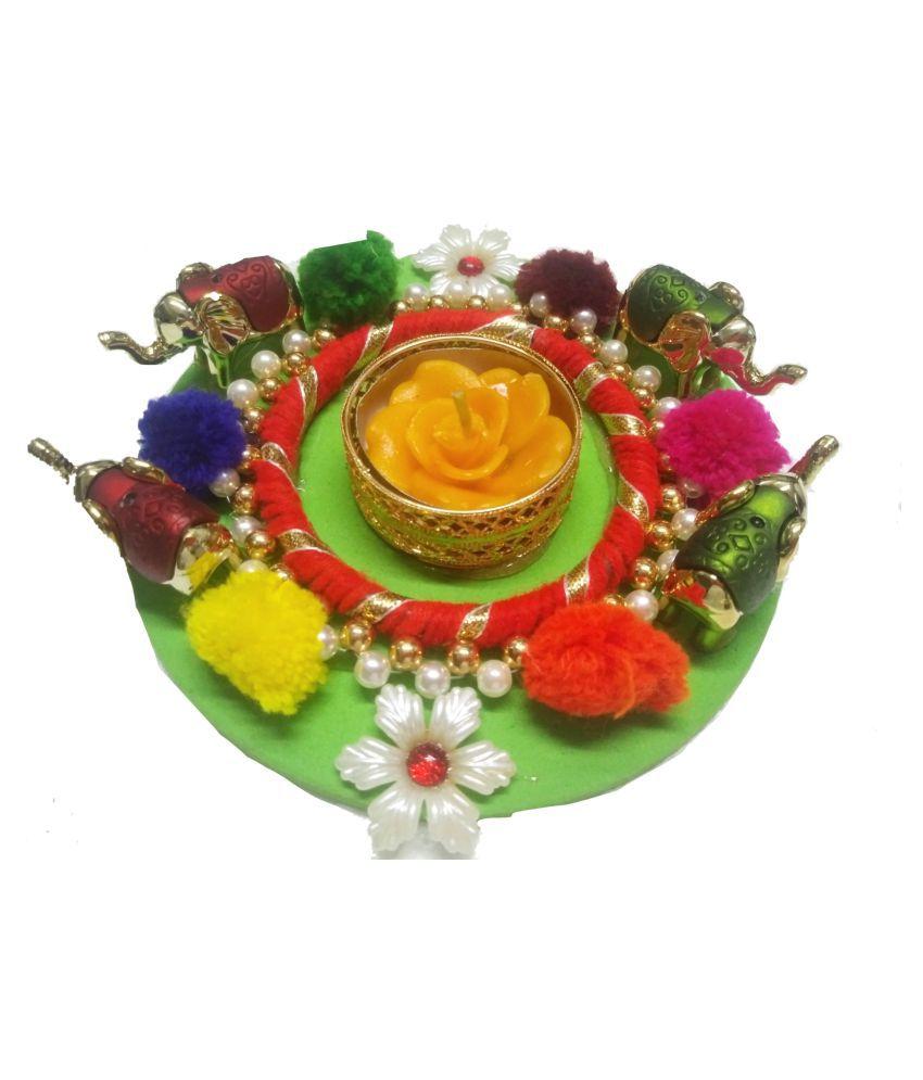 Joya creation Multicolour Floor Plastic Tea Light Holder - Pack of 1