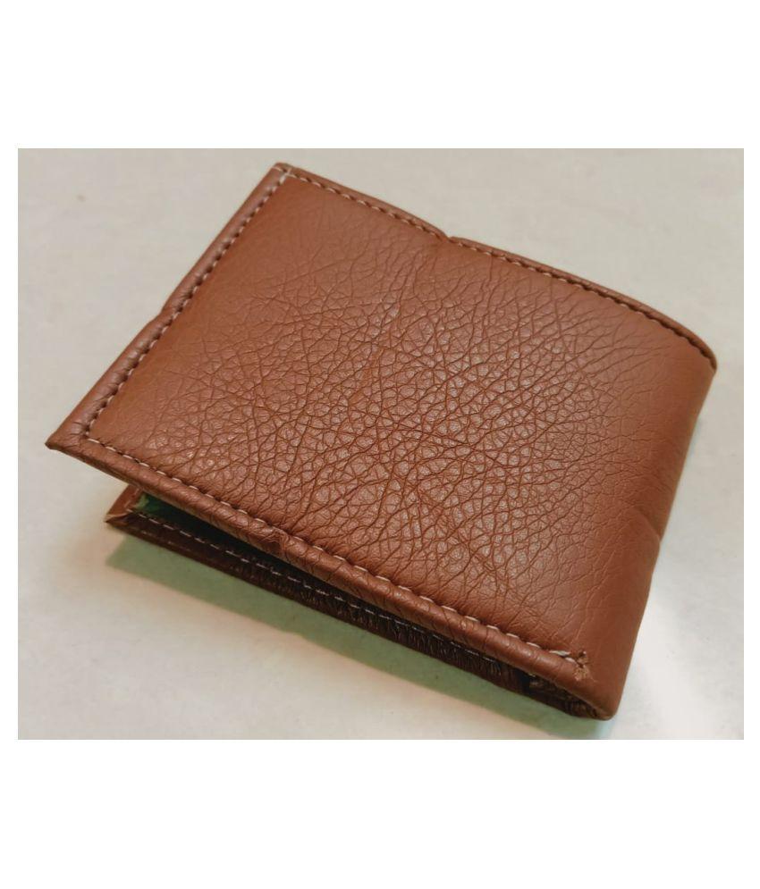 Woodman PU Tan Casual Regular Wallet