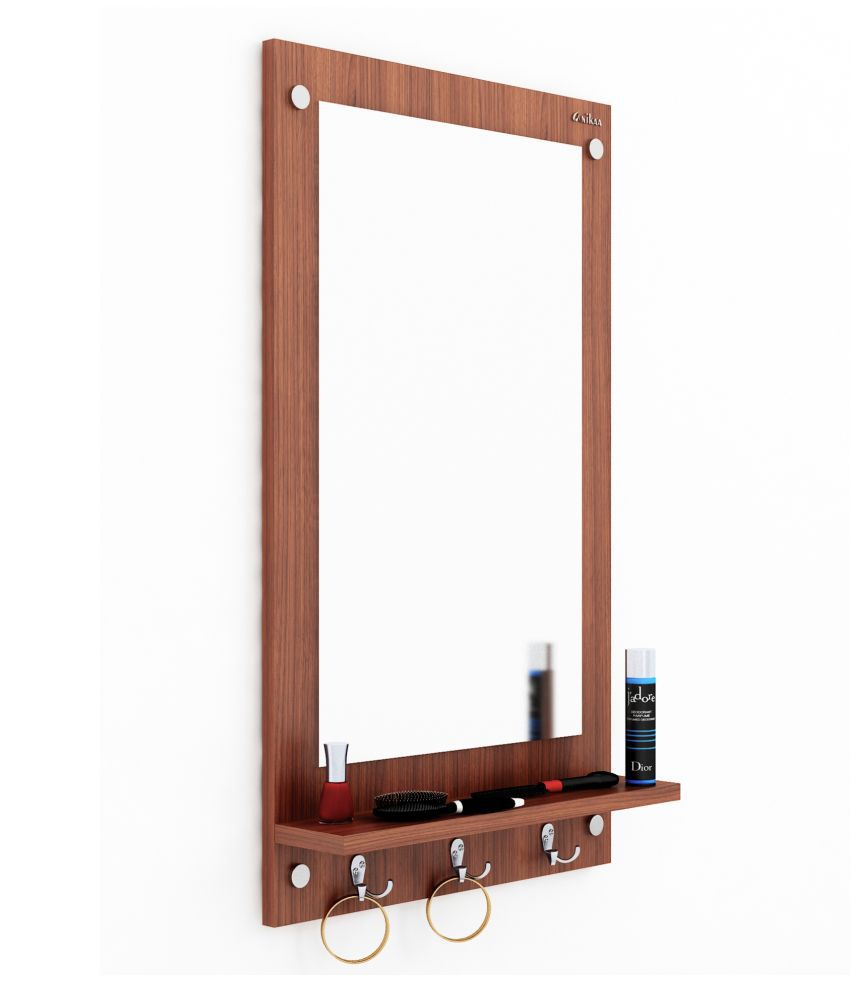 Anikaa Mirror Wall Mirror Brown ( 80 x 12 cms ) - Pack of 1