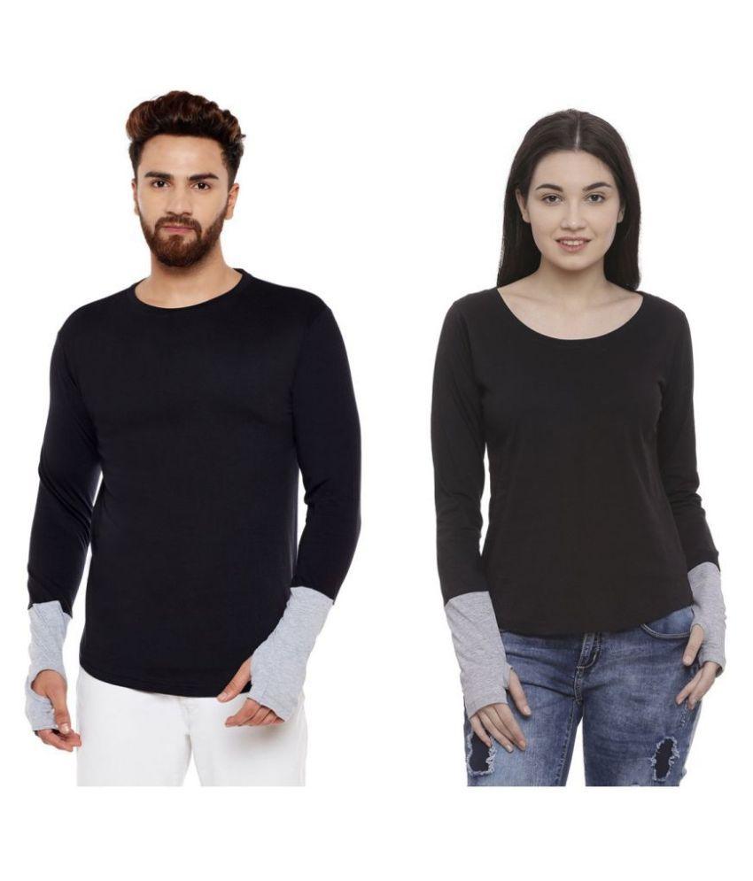 Bombay Clothing Company Black Cotton blend Couple Combo