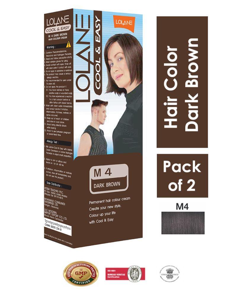 Lolane Permanent Hair Color Dark Brown 90 g Pack of 2