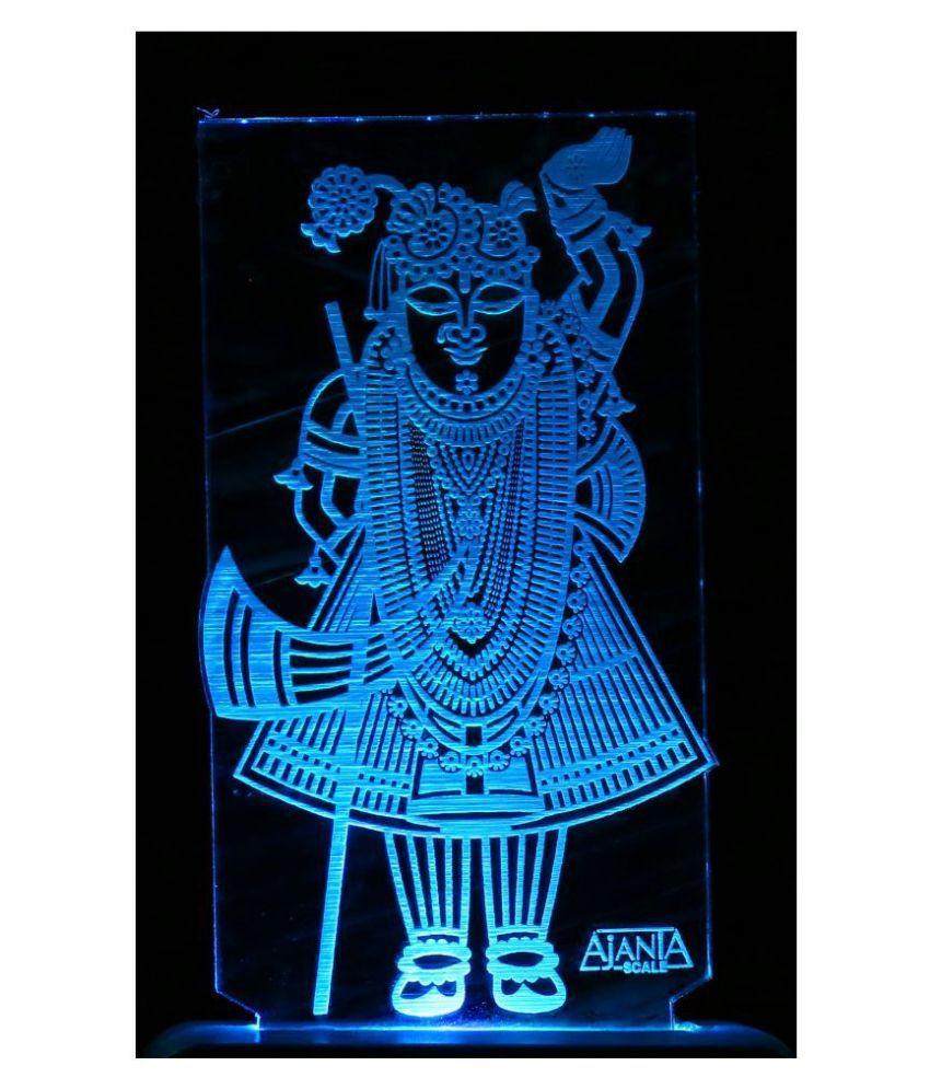 SUPER AJANTA 2007 Lord Srinathji 3D Night Lamp Multi - Pack of 1