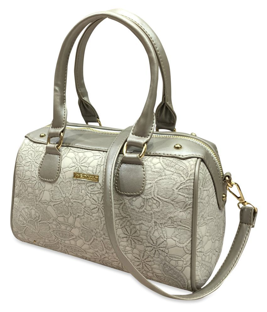 Cavallo White P.U. Satchel Bag