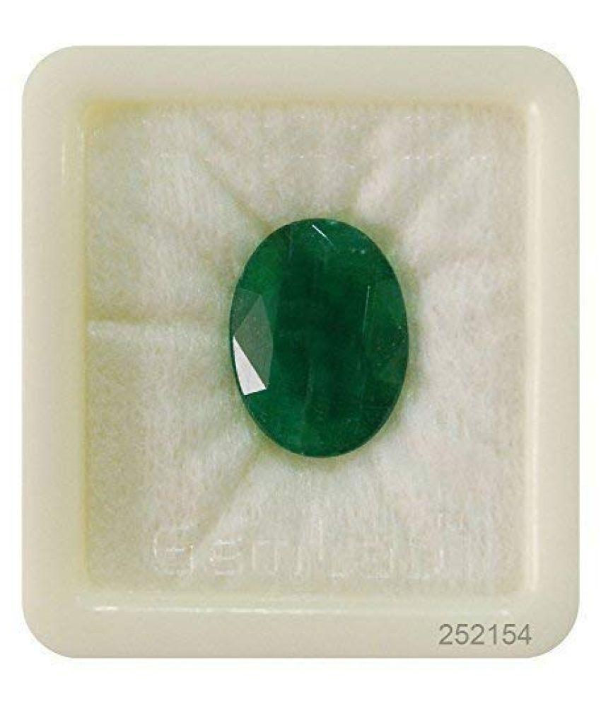 Arpita Gems 5.25 -Ratti Self certified Green Emerald Precious Gemstone