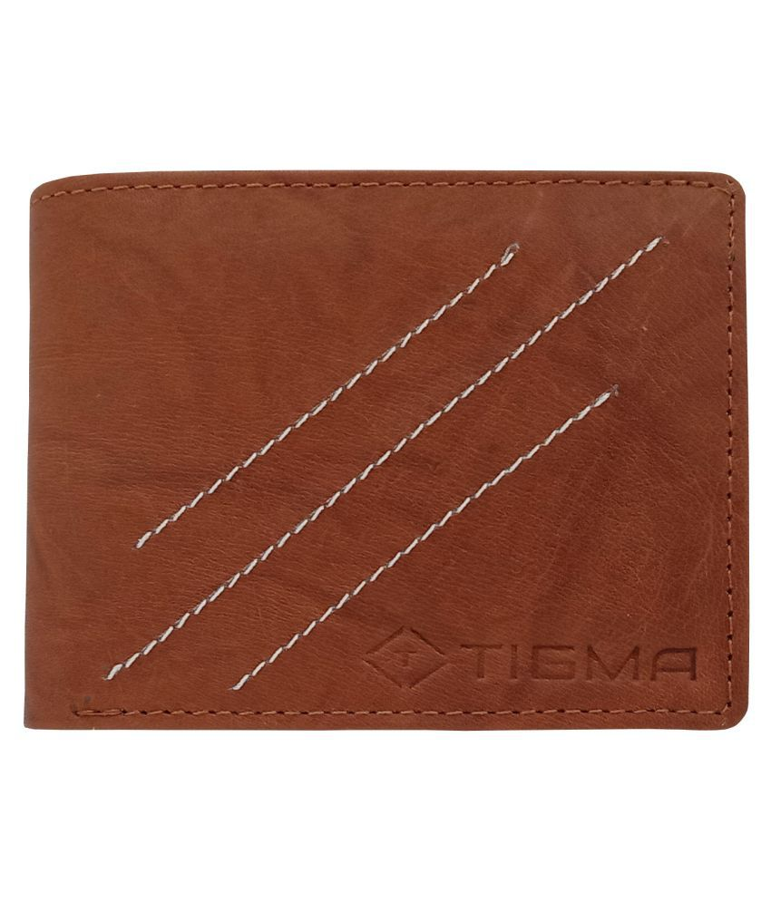 TIGMA Faux Leather Brown Sport Regular Wallet