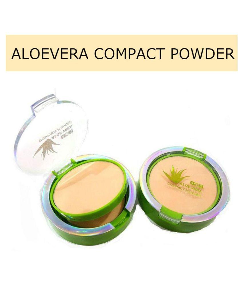ADS Green Tea Compact Pressed Powder Medium Pack of 2 12 g