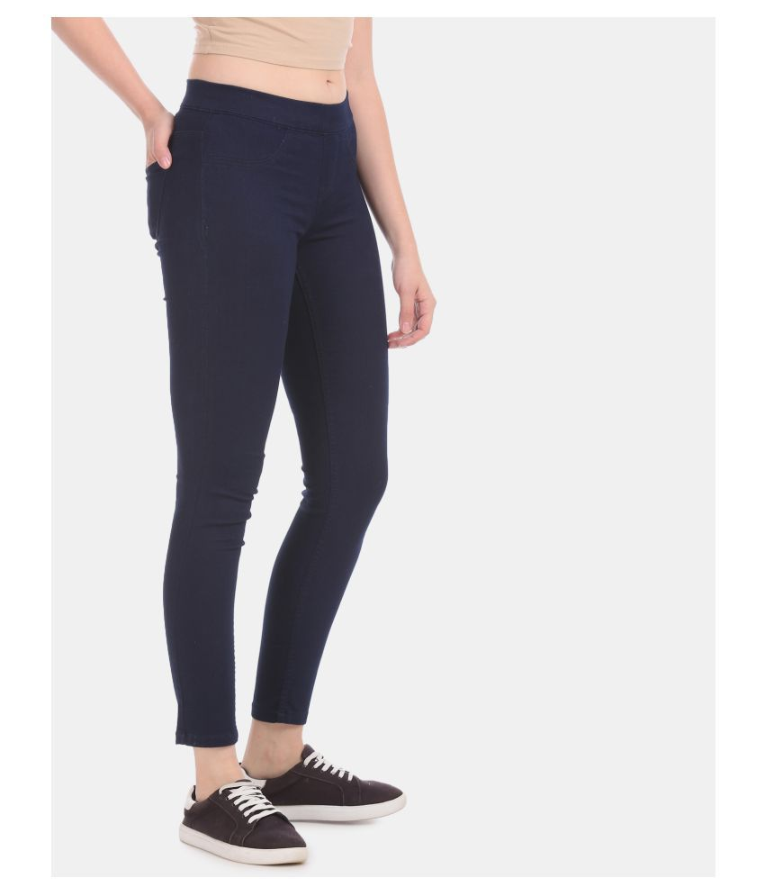 Cherokee Poly Cotton Jeggings - Blue