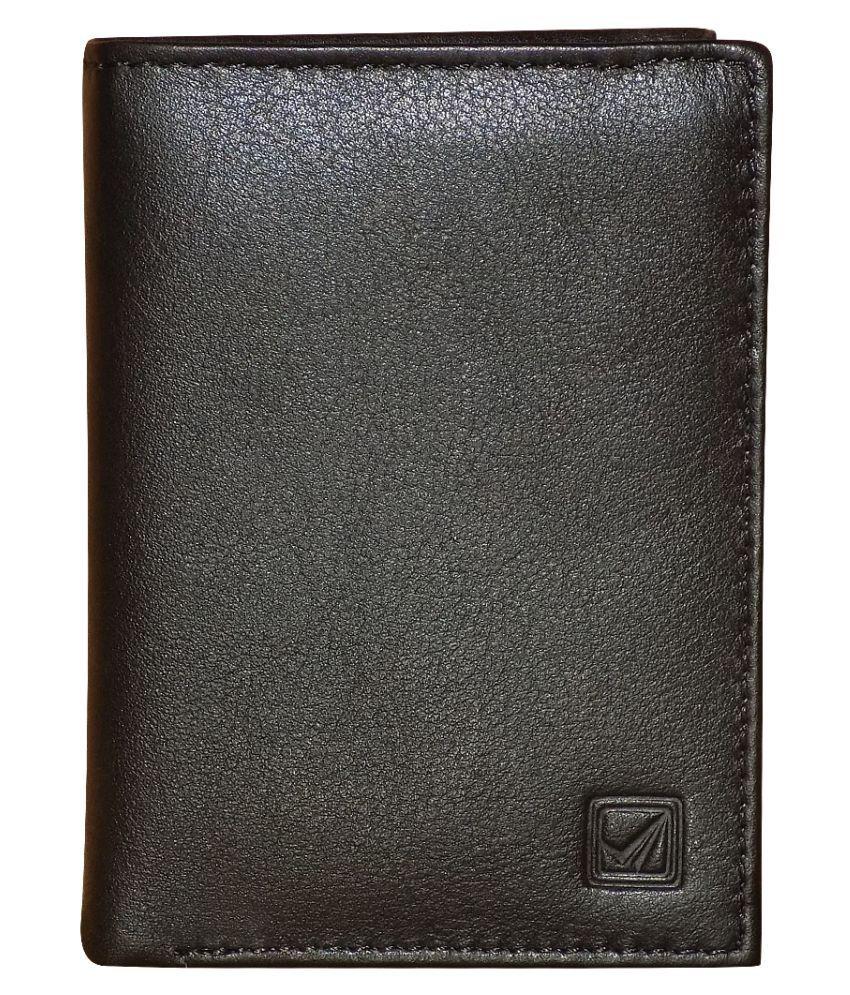 Style 98 Leather Black Formal Short Wallet