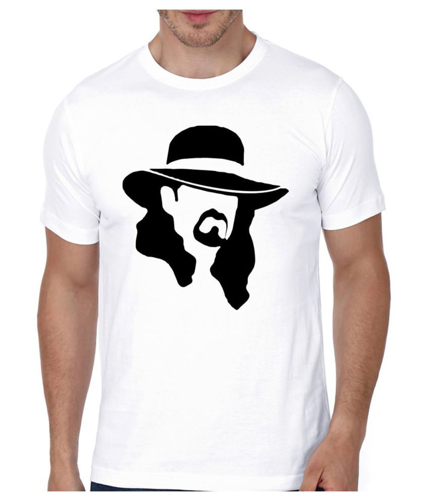 Ditto Boss 100 Percent Cotton White Printed T-Shirt