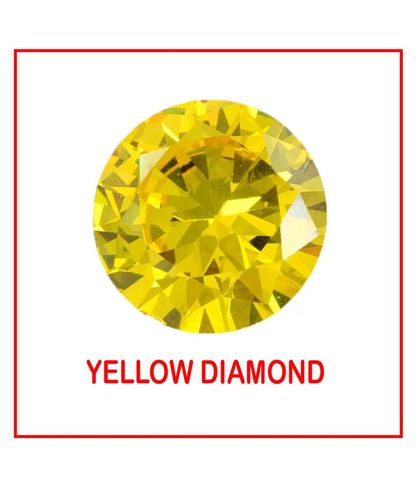 R.K Gems/ 6.20-Carat Top Quality American Yellow Diamond