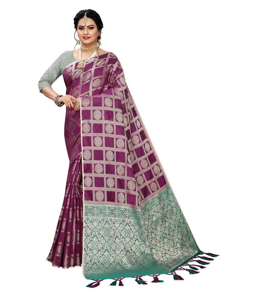 Pisara Pink Banarasi Silk Saree