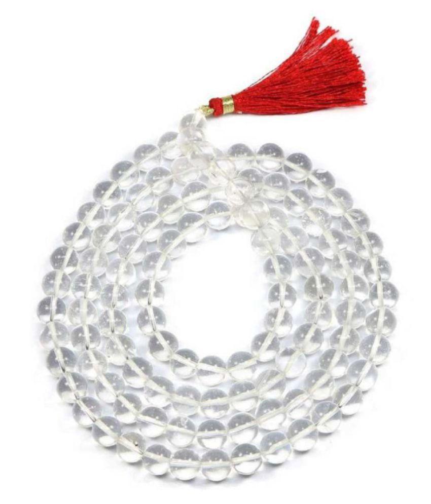 ShivaRatna Sphatik Mala (41-45 Gram) Lab Certified 108 Beads Approx 7 mm 100% Original & Natural Crystal