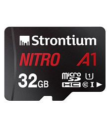 Strontium Nitro A1 32GB 100MB/s Class 10 Micro SD Memory Card with Adapter