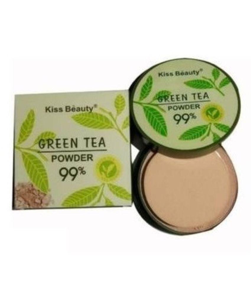 Kiss Beauty Green Tea Powder 99% Dual Sided Compact Mirror