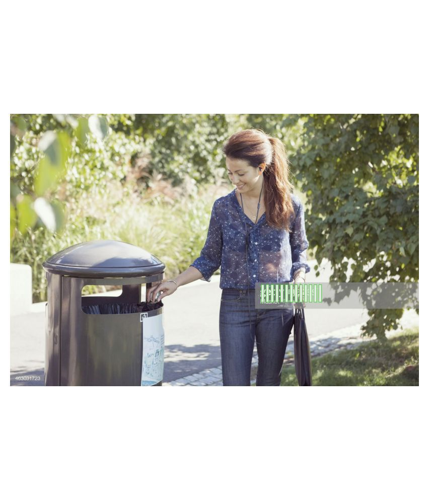 A1 Garbage Bag Dustbin Bag Black Medium Size 19*21 Compostable/Biodegradable Garbage/Trash/Dustbin Bag For Home/Office/Industries & Many Multi Purposes (360 Pieces)