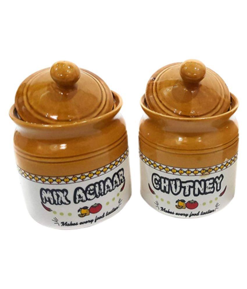 Virtuoso Small Barni Set of 2 Ceramic Spice Container Set of 2 120 mL