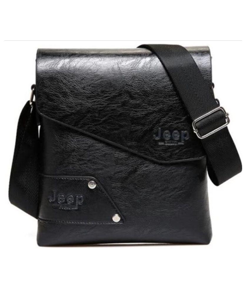 KOMTO Shoulder bag Black P.U. Casual Messenger Bag