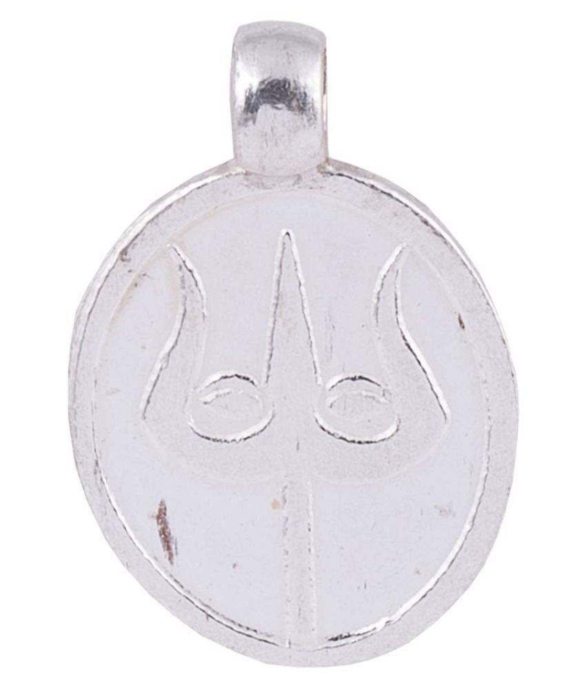 PANDIT NM SHRIMALI Pure Silver Shiv Trishul Pendant, Trishul Locket for Men Women Unisex, Silver 2.5-3gm