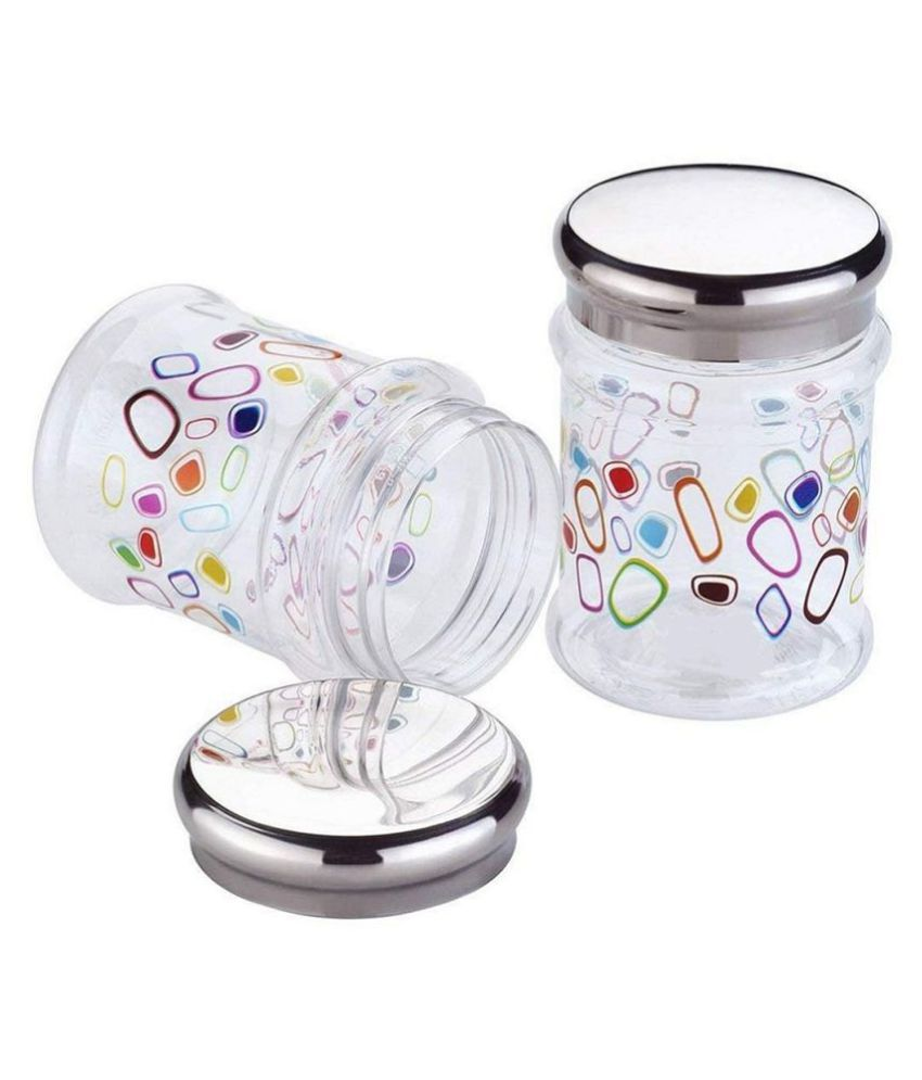 masvi enterprise duro pet jar (2 pcs) Polyproplene Pickle Container Set of 2 500 mL