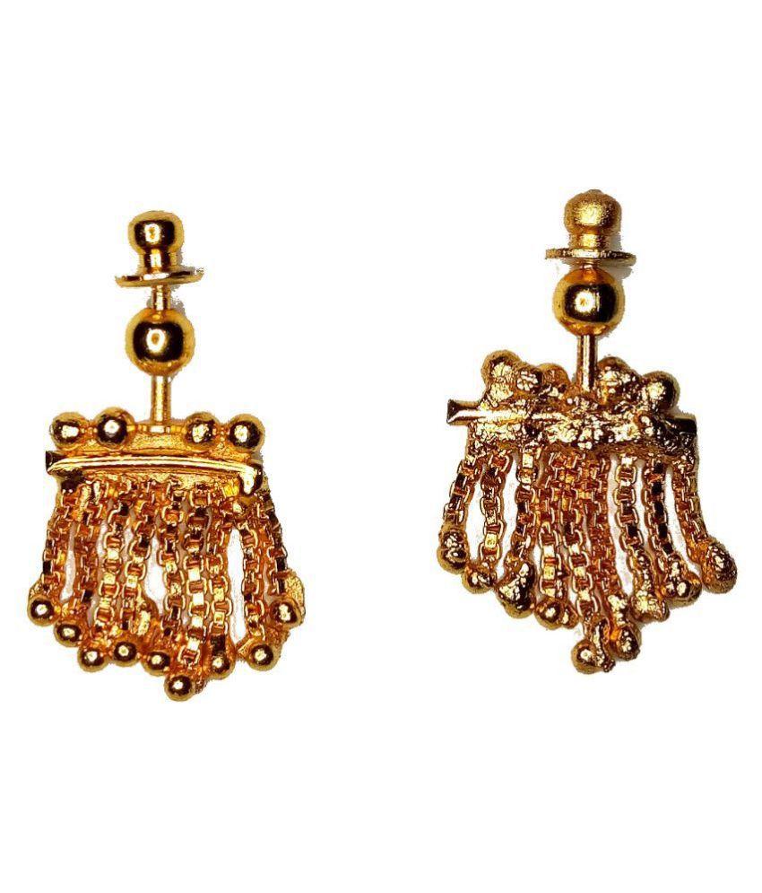Traditional Press Bugadi Upper Ear Clip-On Earrings For Women/Girls