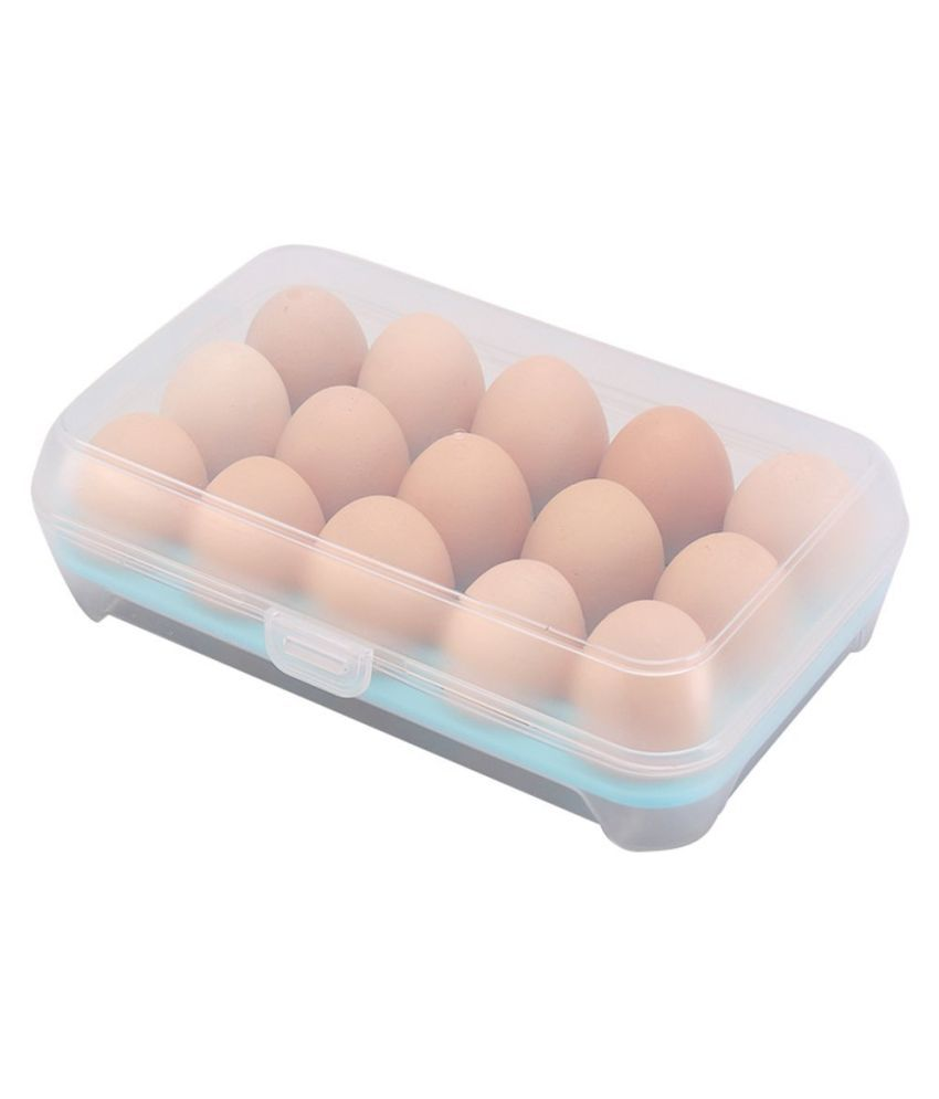 Sanyal 15 Grids Egg Box Acrylic Food Container Set of 1 500 mL