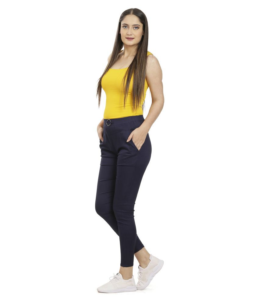 Queenley Rayon Jeggings - Blue
