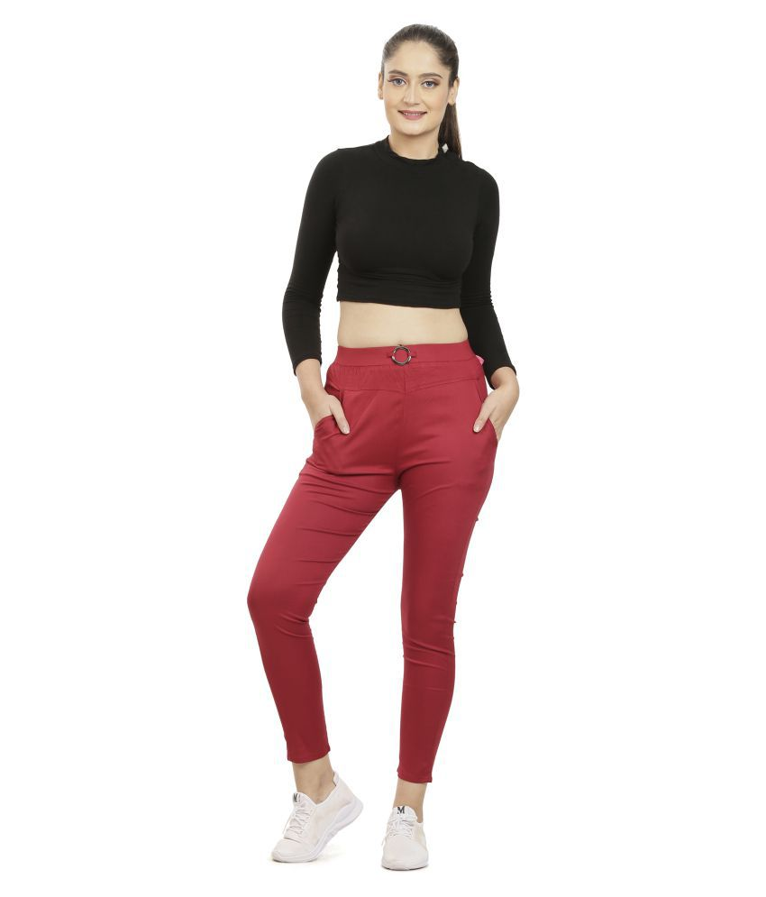 Queenley Rayon Jeggings - Pink